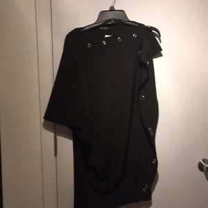 Sexy open sleeve industrial grommets tunic